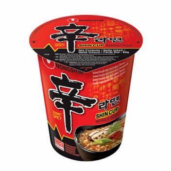 Zupa Nong Shim Hot & Spicy - kubek